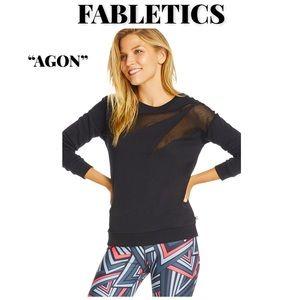 "EUC Black Fabletics ""Agon"" Pullover, Size Medium"
